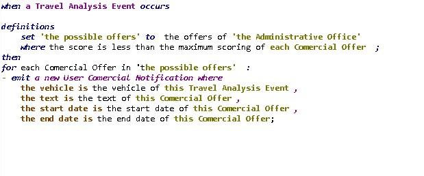 Regla de análisis comercial