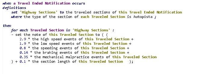 Regla de cálculo de Scoring