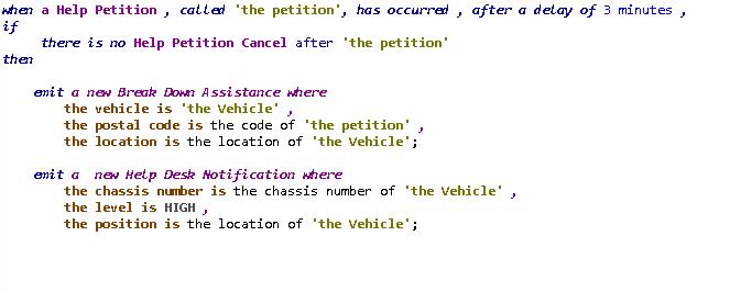Regla de recepción de petición de ayuda